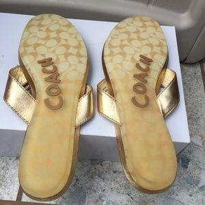 Coach Shoes - Coach Suki Rhinestone Flower Flip-Flop Sandals